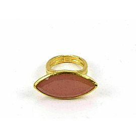 Gurhan Pandora Pink Chalcedony 24k Gold Marquise Solitaire Ring