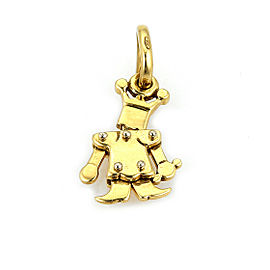 Pomellato Animated Mini King 18k Yellow Gold Charm Pendant