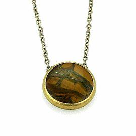 Gurhan Galapagos Tiger's Eye Sterling & Layered 24k Gold Pendant