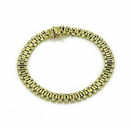 Jubilee Link Soft Flex 18k Yellow Gold Italian Bracelet