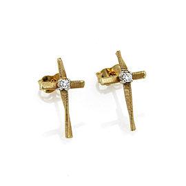 Marco Bicego Marrakech Diamond 18k Gold Cross Earrings