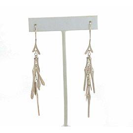 Birks Sterling Silver Fancy Multi-Bar Drop Dangle Earrings