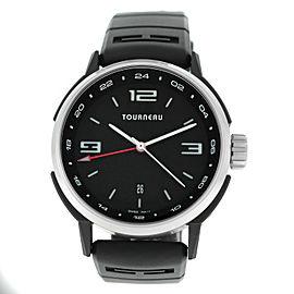 Tourneau TNY GMT44 TNY440402002 Mens Steel PVD 44MM Automatic Watch