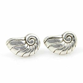 William Spratling Sterling Silver Shell Screw Back Earrings