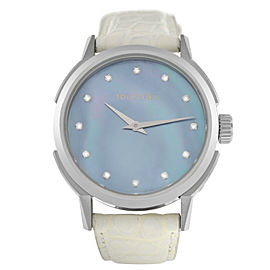 Tourneau TNY Roventa TNY350701013 Ladies Diamond MOP Steel 35MM Quartz Watch