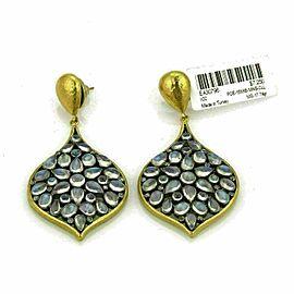 Gurhan Clove VENUS Moonstone Diamond 24k Gold & Sterling Dangle Earrings