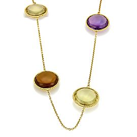 "Roberto Coin IPANEMA Multicolor Gemstone 18k Yellow Gold Long Necklace 32.5"""