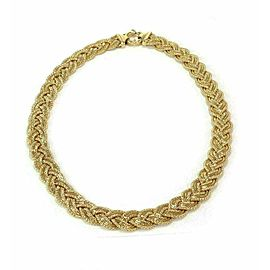 Estate 14k Yellow Gold Multi-Chain Braided Collar Necklace
