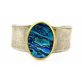 Gurhan Surf Paua Shell 24k Gold & Sterling Silver Large Cuff Bracelet Rt. $2,625