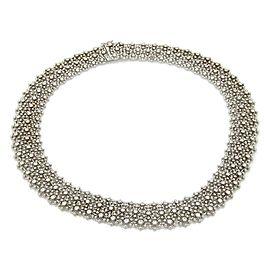 Massive 8.00ct Diamonds 18k White Gold Flex Lace Design Necklace
