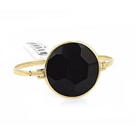 Ippolita Gemma Large Onyx 18k Yellow Gold Hinged Clasp Bracelet