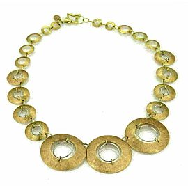 Citra 18k Two Tone Gold Graduated Circle Links Necklace