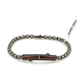 Stephen Webster THORN Sterling Silver Black Rhodium Bull's Eye Bar Bracelet