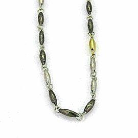 Gurhan ORB Hammered Sterling Silver & 24k Gold Lentil Link Long Necklace