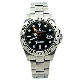 Rolex ExplorerII 216570 Black Dial Automatic Mens Watch