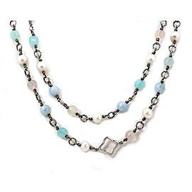 David Yurman Sterling Silver Quatrefoil Bijoux Beaded Necklace