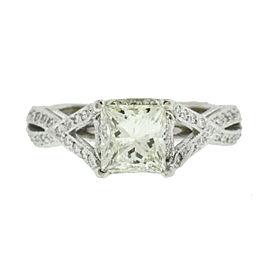 Tacori 18k White Gold Princess Cut Diamond Engagement Ring