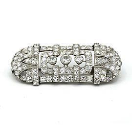 Art Deco Platinum Diamond Brooch ( 7.75 ct tw )