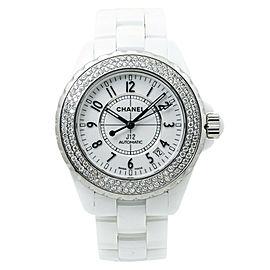 Chanel J12 H0969 Factory Diamond Bezel White Dial Ladies Automatic Watch 38mm