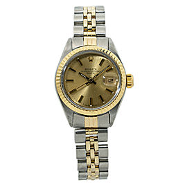 Rolex Date 6917 14K Two Tone Ladies Automatic Watch 26MM