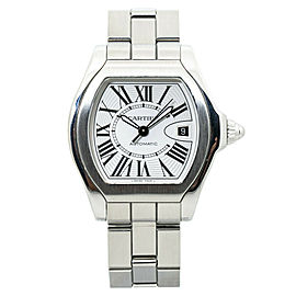 Cartier Roadster W6206017 Silver Dial Stainless Mens Automatic Watch 40MM