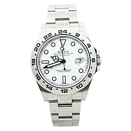 Rolex Explorer II 216570 Polar White Dial Automatic Watch 42mm Box&Paper 2015