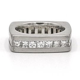 Men's Diamond Square Eternity Band Ring in Platinum ( 3.45 ct tw )