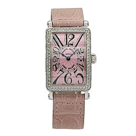 Franck Muller Women's Long Island 18k White Gold Diamond Watch 900 QZ D