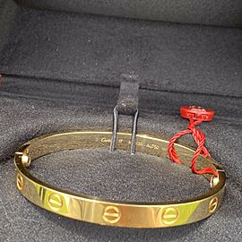 Cartier Love Bracelet Size 17 Yellow Gold With Box / Papers 2021