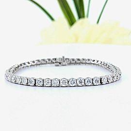 Round Brilliant Diamond 6.12 tcw 18kt White Gold Tennis Bracelet