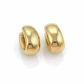 Roberto Coin Puffed 13mm Wide Oval 18k Rose Gold Hoop Earrings