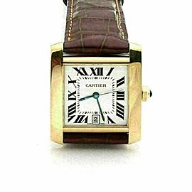 Cartier Tank Francaise 18k Yellow Gold Date Automatic Watch
