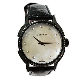 Tourneau TNY Roventa TNY350704001 Unisex PVD MOP Diamonds 35MM Quartz Watch