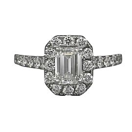 1.15 carat GIA Emerald Cut Diamond Engagement Ring in 18k White Gold
