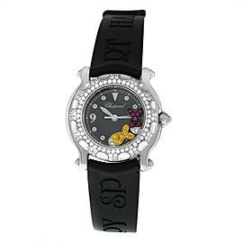 Chopard Happy Sport Fish 27/8924 Diamond Ruby Sapphire Gold Steel Quartz Watch