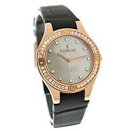 Corum Romulus Lady 024.131.85/0009 18K Solid Rose Gold Diamond MOP 31MM Watch