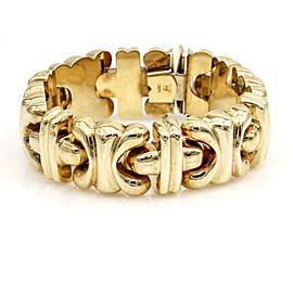 Women's Italian Made Statement Link Bracelet in 14k Yellow Gold