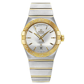 Omega Constellation Day Date Steel Gold Diamonds Mens Watch 123.25.38.22.02.002