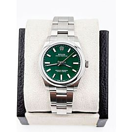 BRAND NEW Rolex 277200 Oyster Perpetual Green 31mm Stainless Box Papers 2021