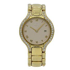 Women's Beluga 884960 Mid-Size 18k Gold Watch with Custom Diamond Bezel