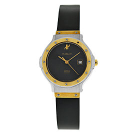 Hublot MDM 1391.2 Ladies 18K Gold Steel Date 28MM Quartz Watch