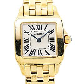 Cartier Santos Demoiselle W25063X9 2699 18K Yellow Gold Quartz Ladies Watch 20mm