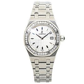 Audemars Piguet Lady Royal Oak Offshore 67621ST Factory Diamond Steel Watch 33mm