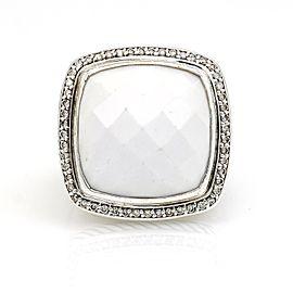 David Yurman 20mm Agate Diamond Albion Ring in Sterling Silver