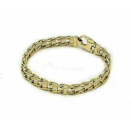 Double Side 14k Two Tone Gold Double Link Bracelet