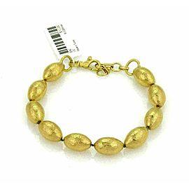 Gurhan Cocoon 24k Gold Hand Hammered Beaded Bracelet