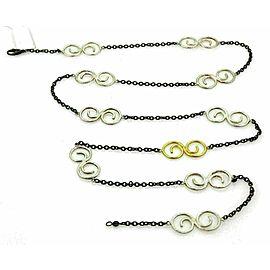 Gurhan Vortex 24k Gold & Sterling Silver Spiral Link Chain Necklace
