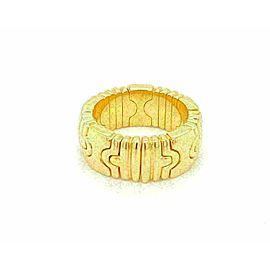 Bvlgari Parentesi 18k Yellow Gold 8mm Wide Dome Band Ring