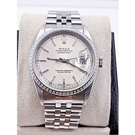 Rolex Datejust 16220 Silver Index Dial Stainless Steel Excellent Condition