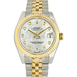 Rolex Datejust 178273 Factory DiamodMOP Twotone Midsize New Watch 31mm